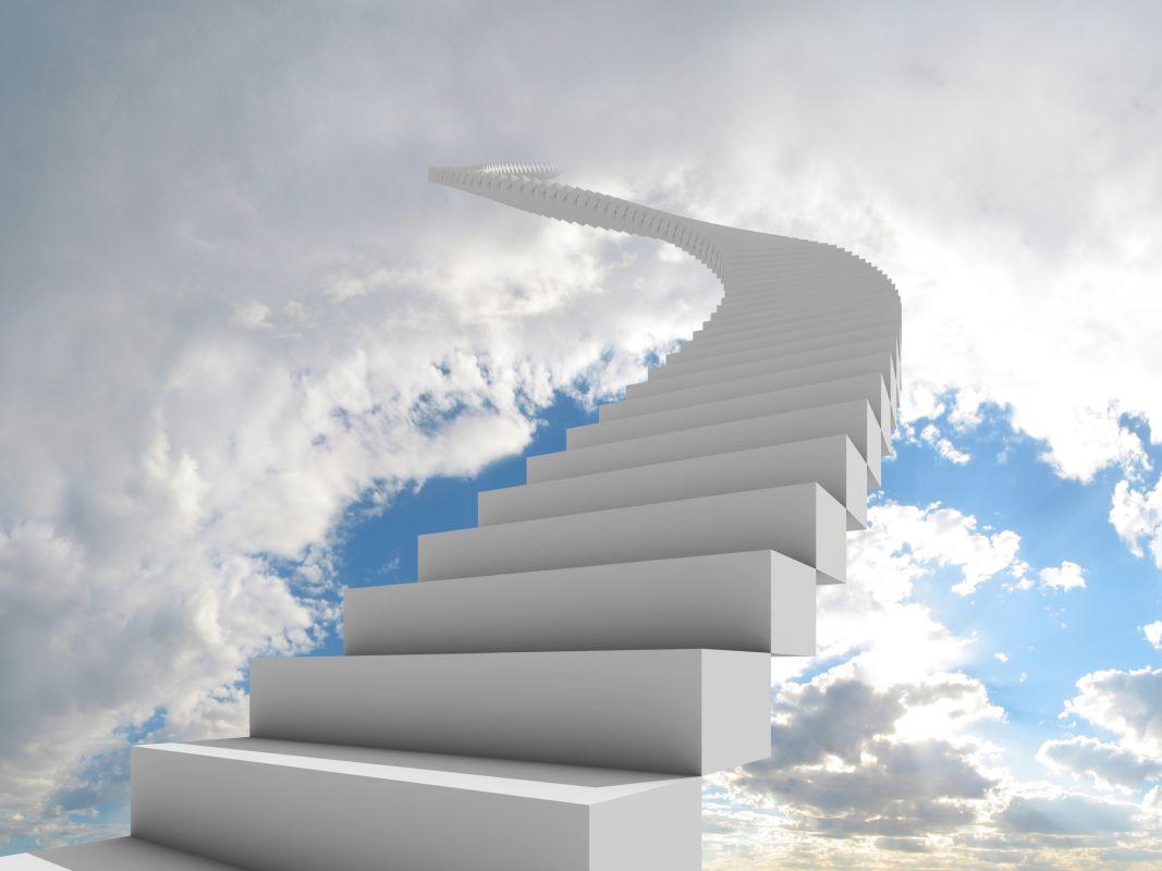 Schody granitowe do nieba prowadzące